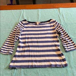 Banana Republic Blue/White Striped Top